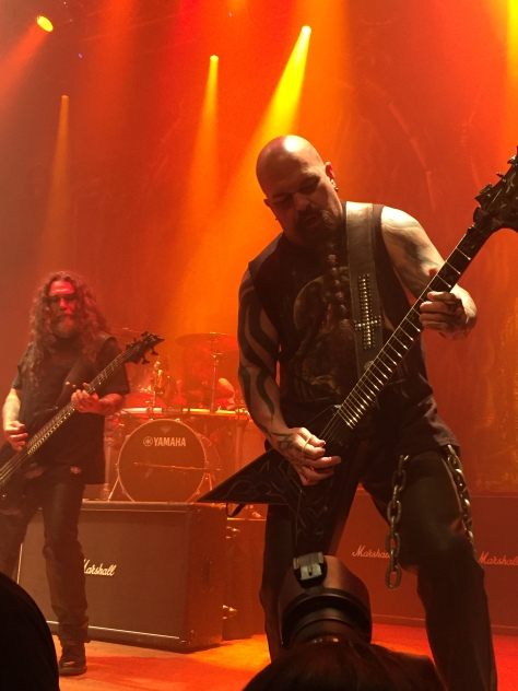 Tom Araya and Kerry King shreddin like everyone is watching at Slayer's special Comic Con takeover show.