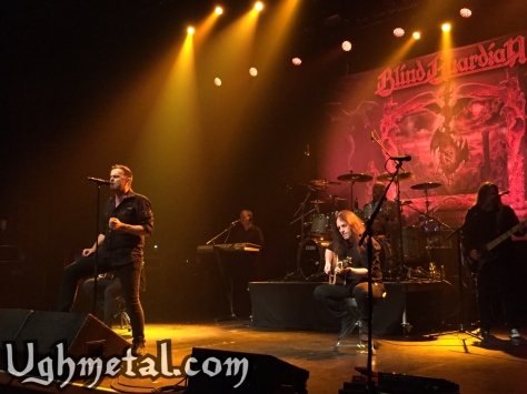 Blind Guardian gathers us by the fire for an epic tale. (Pictured from left to right: vocalist Hansi Kürsch, keyboardist Michael Schüren, rhythm guitarist Marcus Siepen, drummer Frederik Ehmke and lead guitarist André Olbrich)