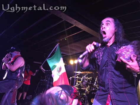 Brujeria are victorious in this brutal revolution. (L to R: Vocalist Juan Brujo and backup vocalist Pinche Peach)