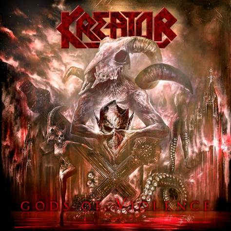 "Kreator unveils the album cover for ""Gods of War"" out on January 27."