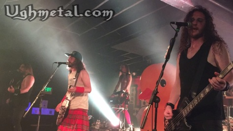 Alestorm, they're so damn intoxicating and serenading their duck. (L to R: Guitarist Mate Bodor, vocalist and keytarist Capt. Christopher Bowes, keyboardist Elliot Vernon, and bassist Gareth Murdock)