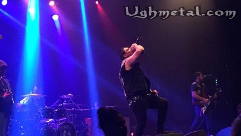 "Corrupted Youth stirred the crowd. (L to R: Drummer Raul Cuellar, Vocalist Ignacio ""Nacho Corrupted"" Rodriguera, guitarst/backup vocals Eugene Villanueva)"