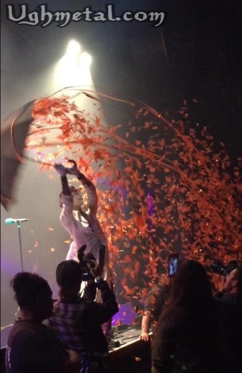 "Driest GWAR show ever! (Vocalist Keith ""Monkey"" Warren dancing in the confetti rain)"