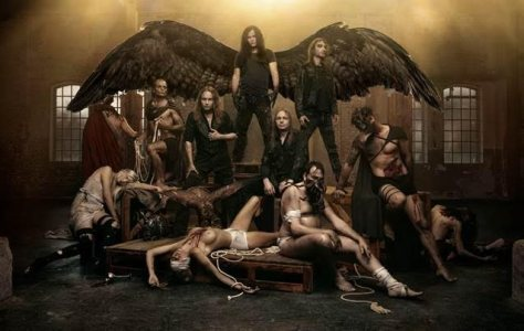 "Behold! Kreator in this bloody display of art...and boob ;) in their promo picture for their upcoming music video ""Gods Of Violence"""
