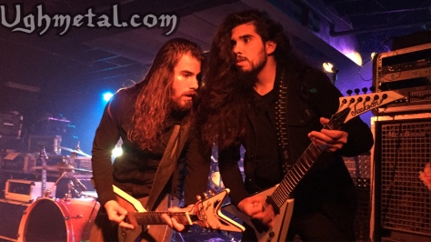 There's no stopping these two shred masters from L.A band Thrown Into Exile (L to R: Guitarists Raymond Sanchez and Mario Rubio)